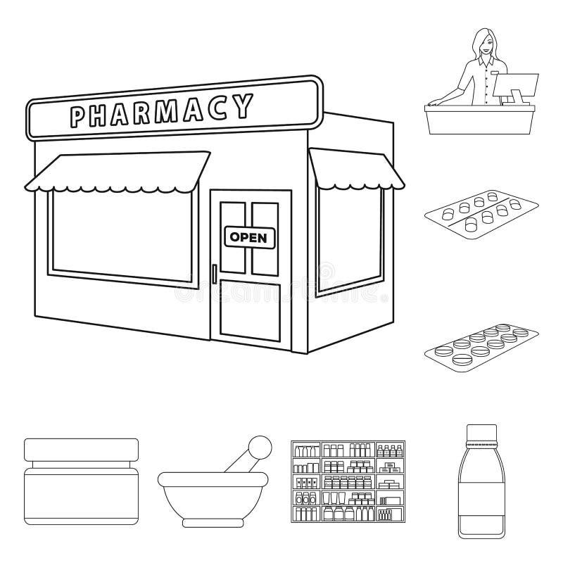 药房和配药标志传染媒介设计  o 库存例证