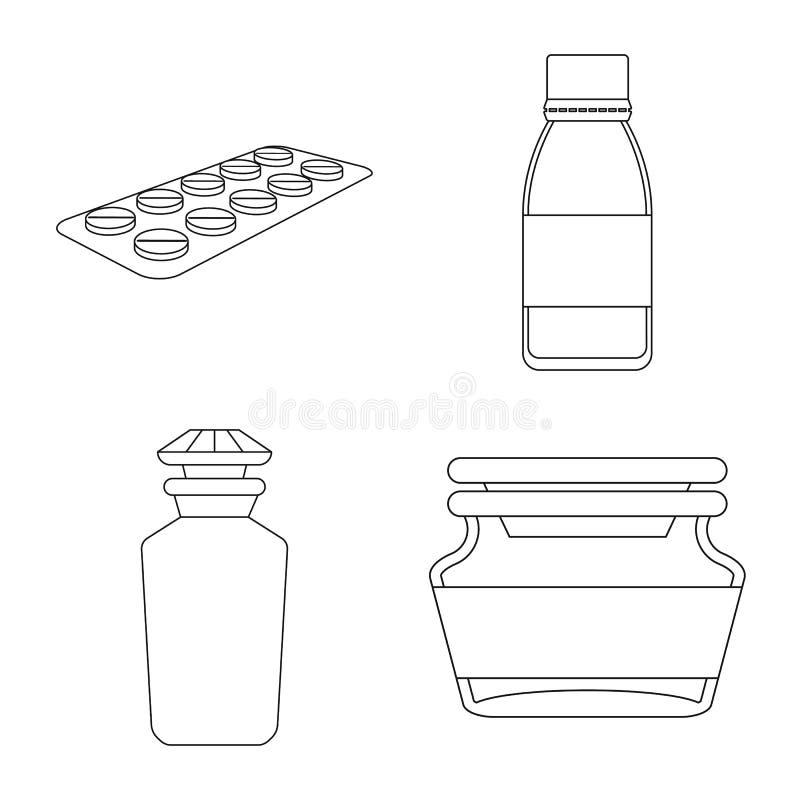药房和配药象的传染媒介例证 药房和健康储蓄传染媒介例证的汇集 皇族释放例证