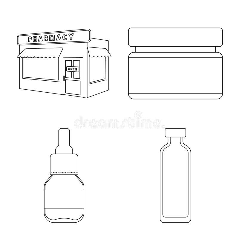 药房和配药象的传染媒介例证 r 库存例证
