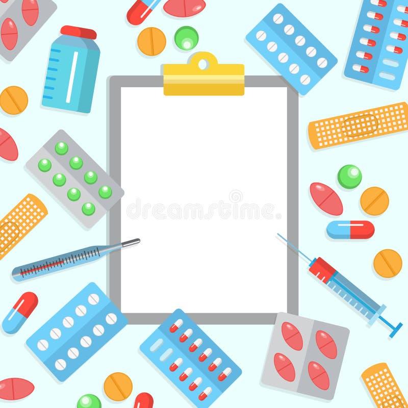 药房平的海报 向量例证