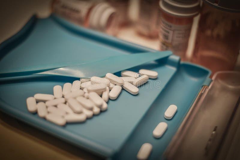 药房药片计数 库存照片