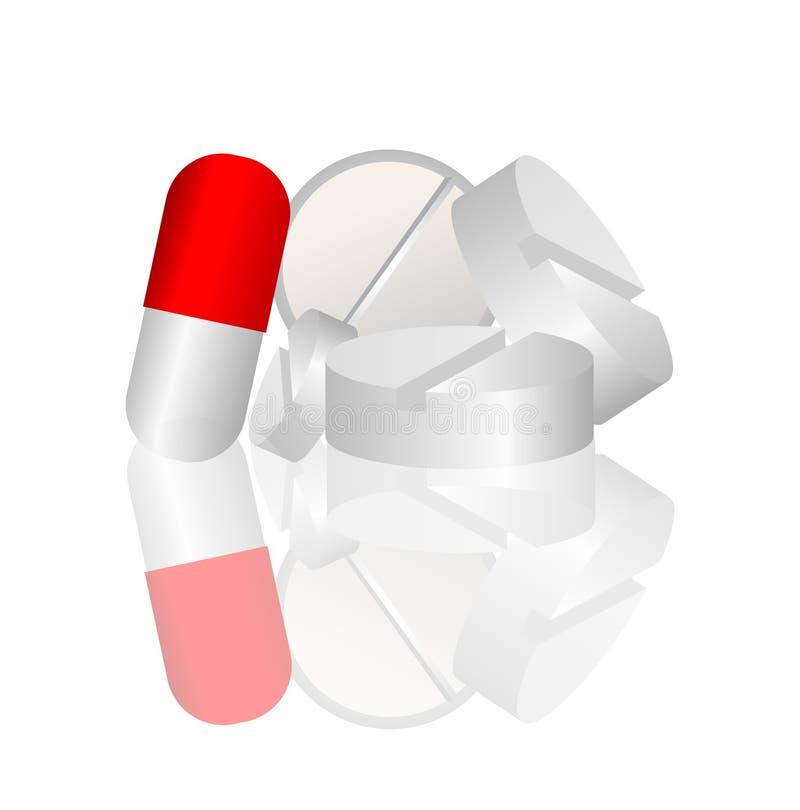 药房药片 库存例证