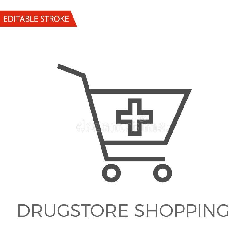 药房购物传染媒介象 向量例证