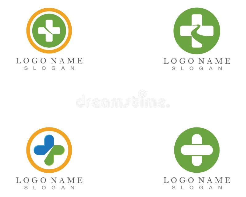 药房,医学,医疗保健发怒抽象传染媒介商标设计 皇族释放例证