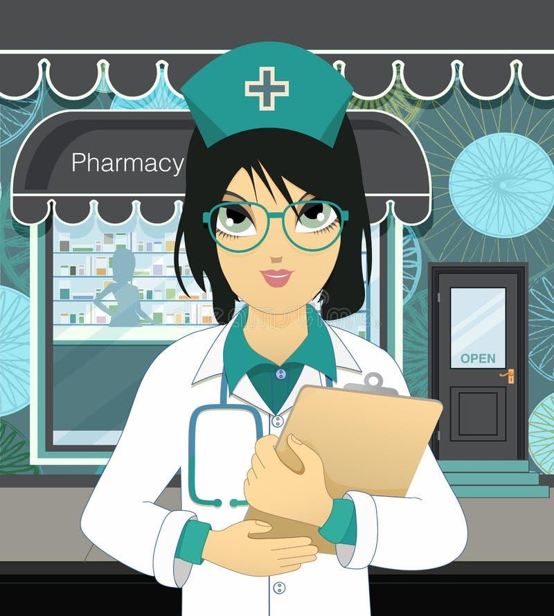 药房 向量例证