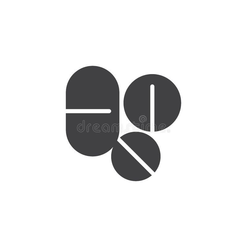药片和片剂传染媒介象 向量例证