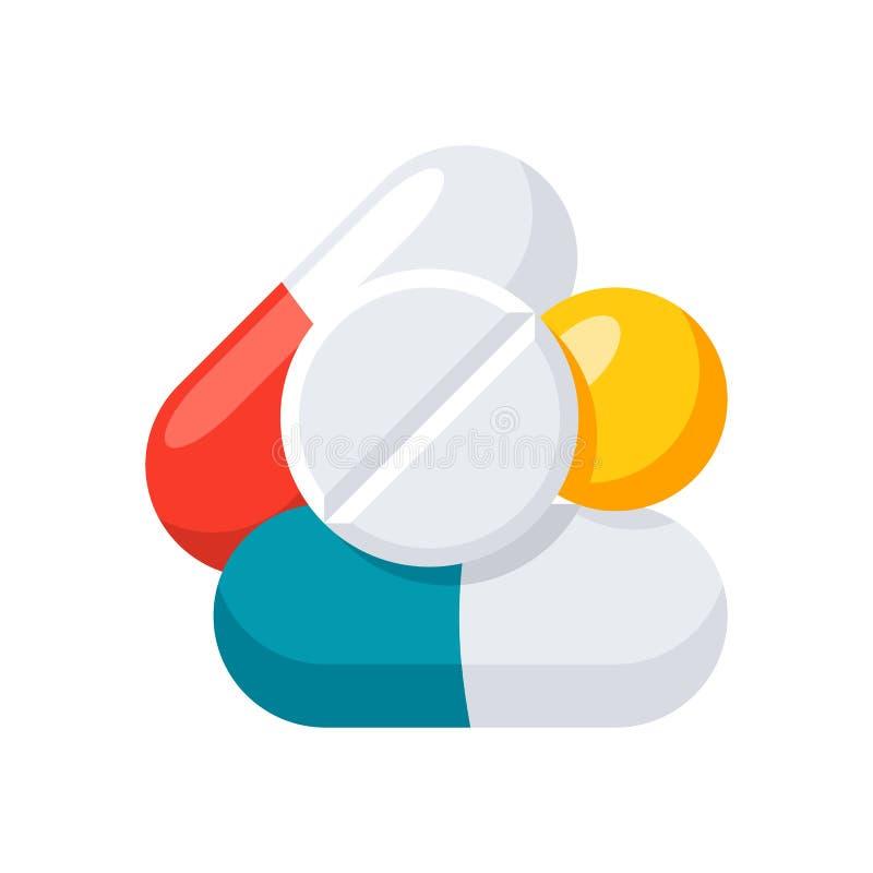药片和片剂 向量例证