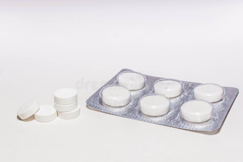 药片和疗程10 免版税库存图片