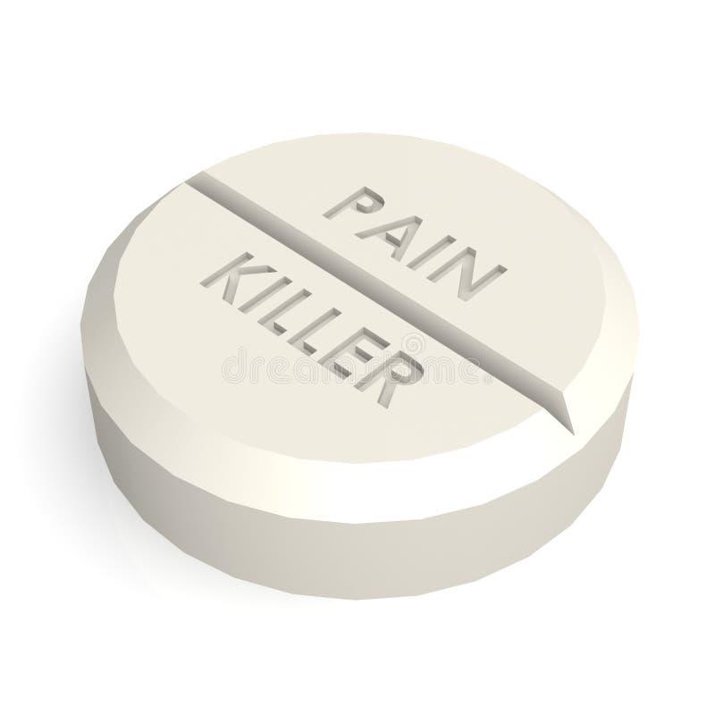 药片片剂止痛药 库存例证