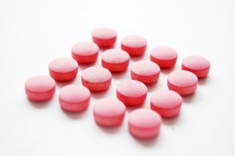 药片红色 库存图片