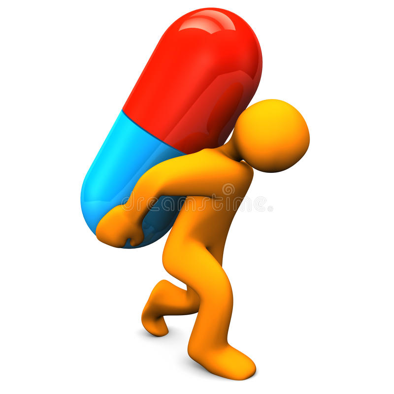 药片间接费用 向量例证