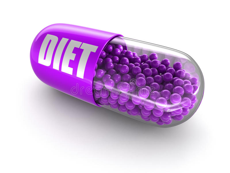 药片饮食(包括的裁减路线) 向量例证