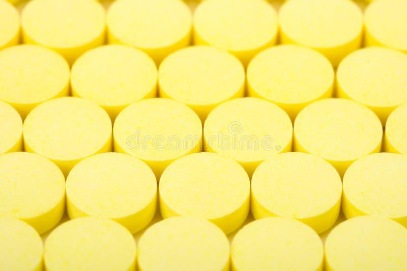药片黄色 免版税库存图片