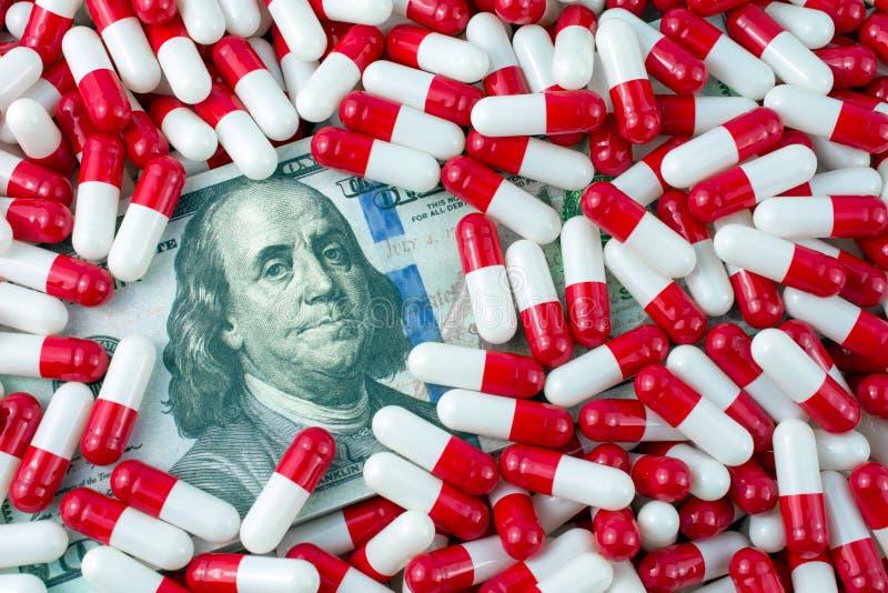 药物在价格增加 图库摄影