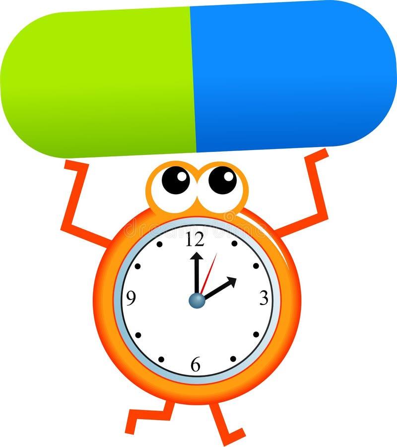药物时间 向量例证