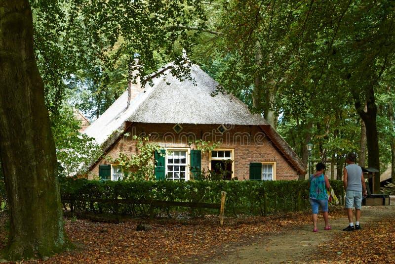荷兰传统建筑学,老荷兰房子 免版税图库摄影