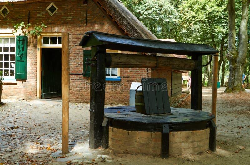 荷兰传统建筑学,老荷兰房子 库存图片