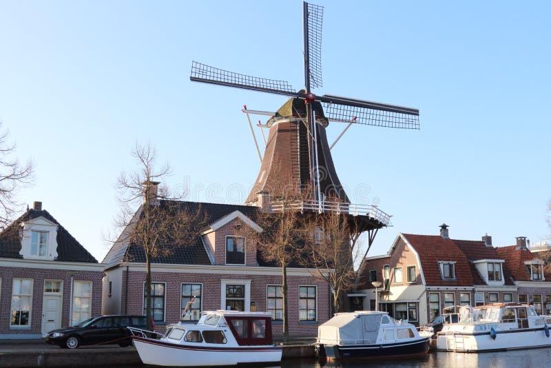荷兰储蓄磨房Vlijt在梅珀尔 免版税库存图片