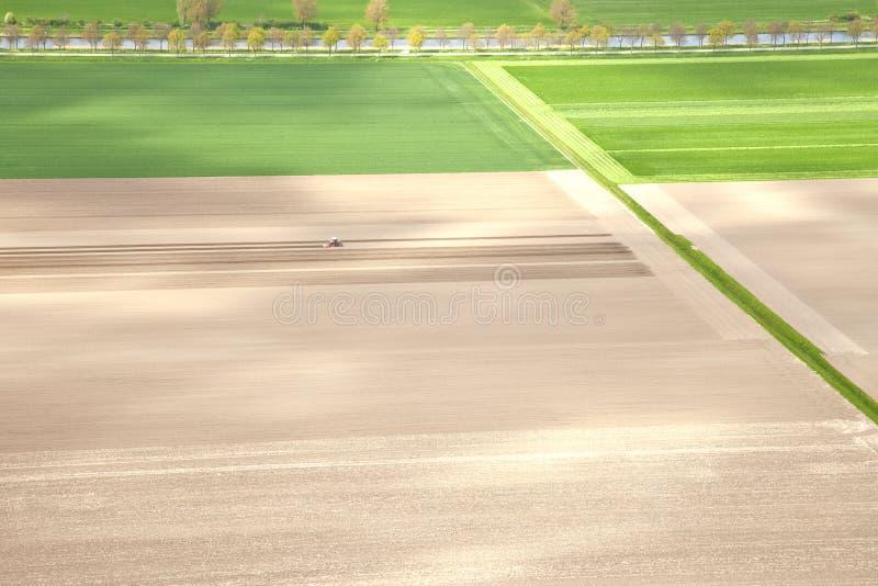 荷兰农厂风景从上面 免版税库存图片