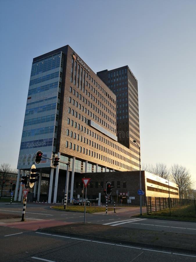 荷兰合作银行办公室在阿尔梅勒,荷兰 库存图片
