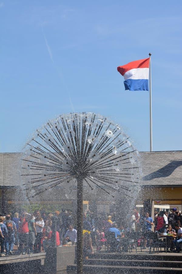 荷兰喷泉 免版税库存照片