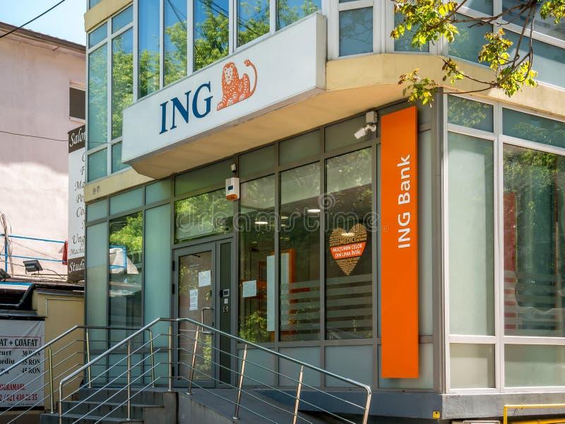 荷兰国际银行罗马尼亚布加勒斯特分行 库存图片