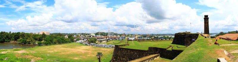 荷兰堡垒的全景在加勒,斯里兰卡 免版税图库摄影
