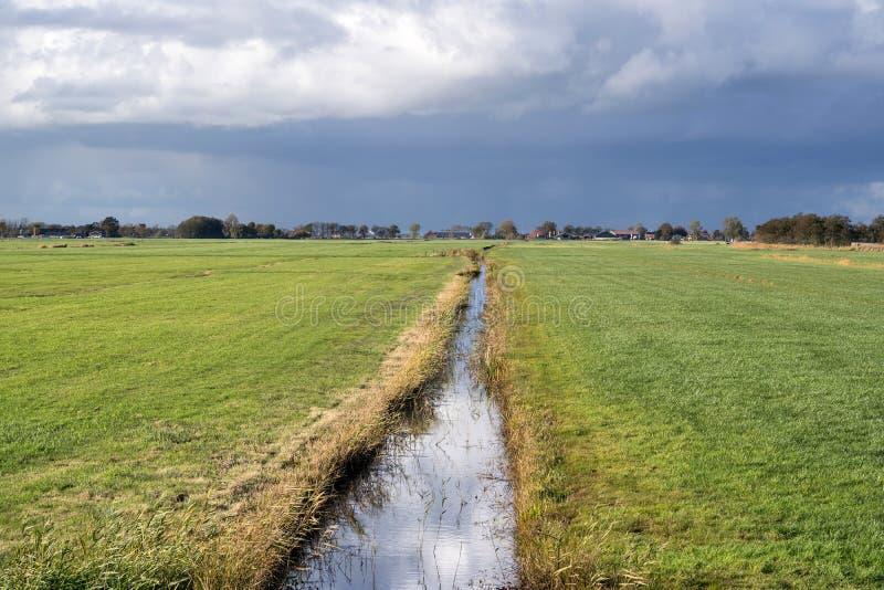 荷兰开拓地风景 免版税库存图片
