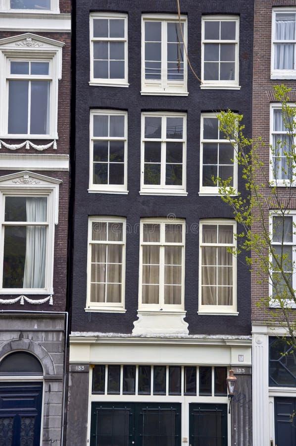 荷兰房子视窗 免版税库存照片