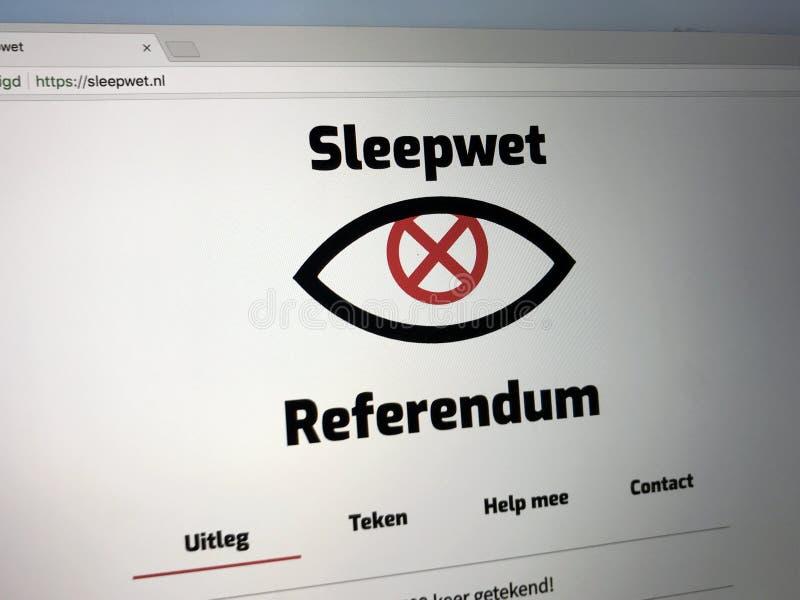 荷兰抗议网站网站反对智力和安全部门行动的2017年 库存照片