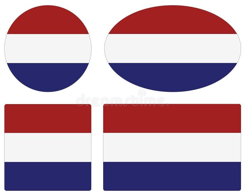 荷兰旗子-国家在西欧 皇族释放例证