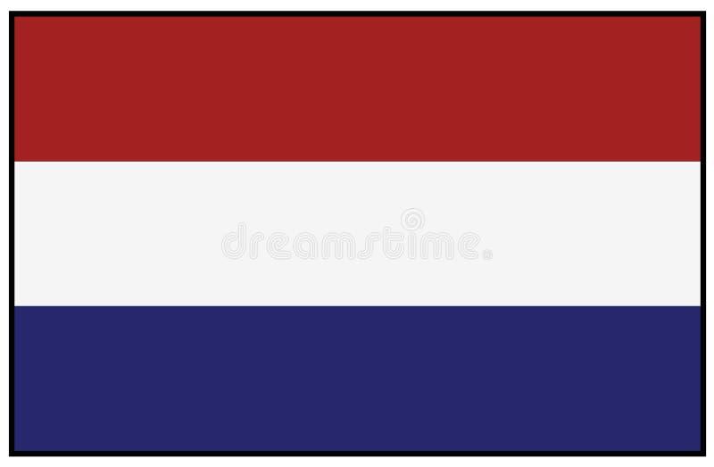 荷兰旗子-国家在西欧 库存例证