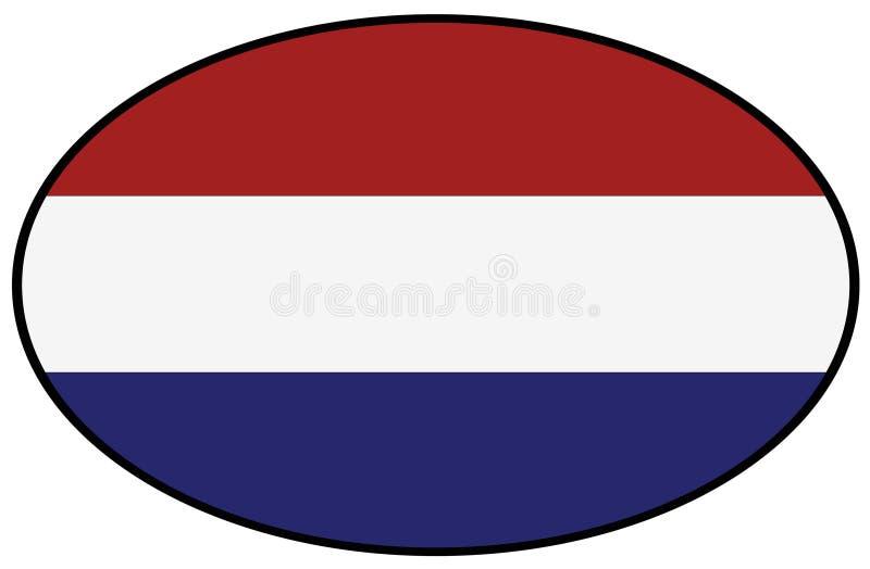 荷兰旗子-国家在西欧 向量例证