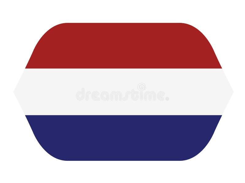 荷兰旗子-荷兰是主要位于欧洲西北部的国家 向量例证