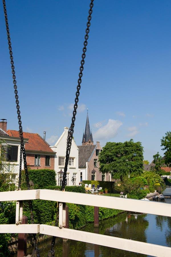 荷兰河vecht 库存照片