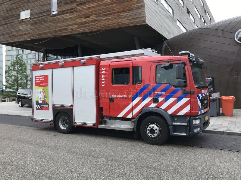 荷兰消防队卡车 免版税库存照片