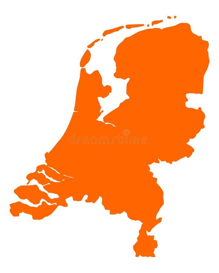 荷兰的地图 库存例证
