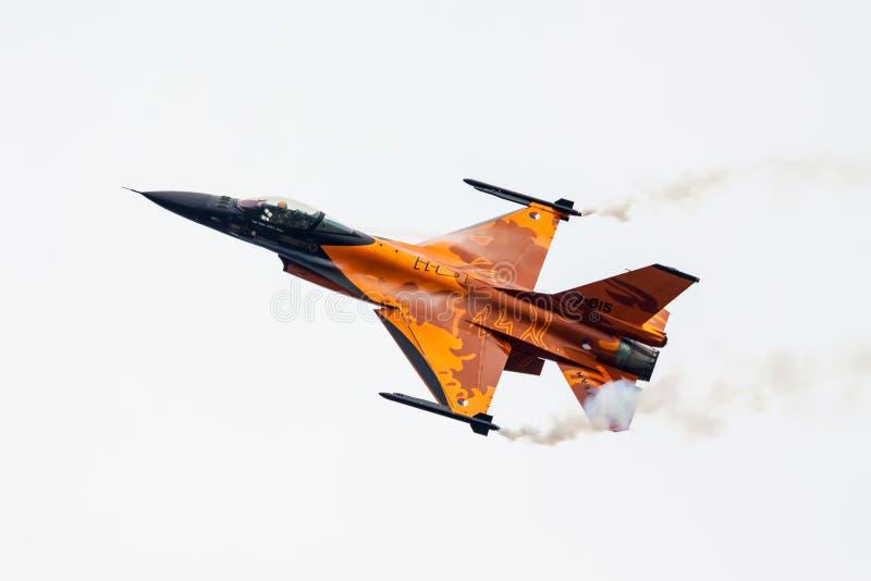 荷兰皇家空军F-16 免版税库存图片