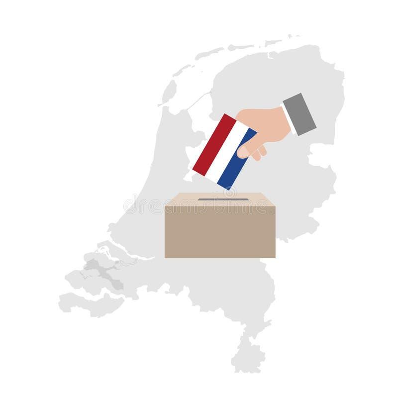 荷兰竞选投票箱 向量例证