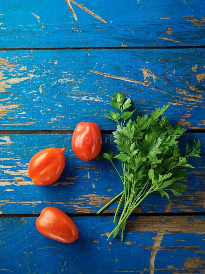 荷兰芹和蕃茄 库存图片
