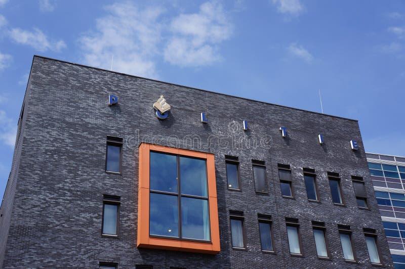 荷兰警察局在阿莫斯福特,荷兰 图库摄影