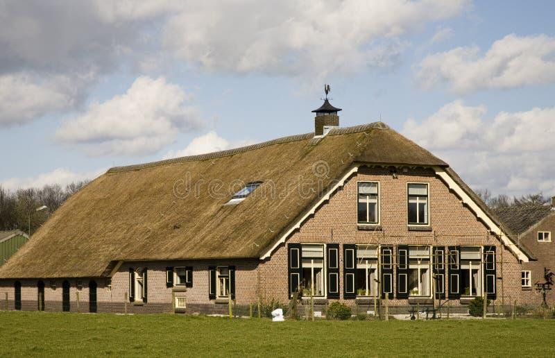 荷兰语农厂房子 免版税库存照片