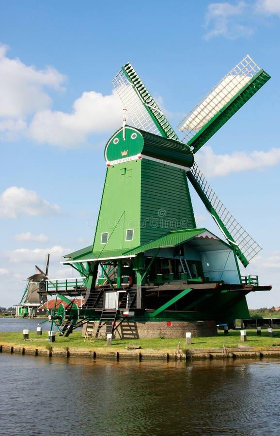 荷兰语历史风车工作 免版税库存照片