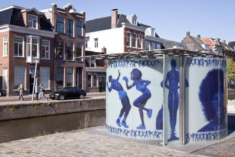荷兰语在市格罗宁根设计尿壶 免版税库存图片