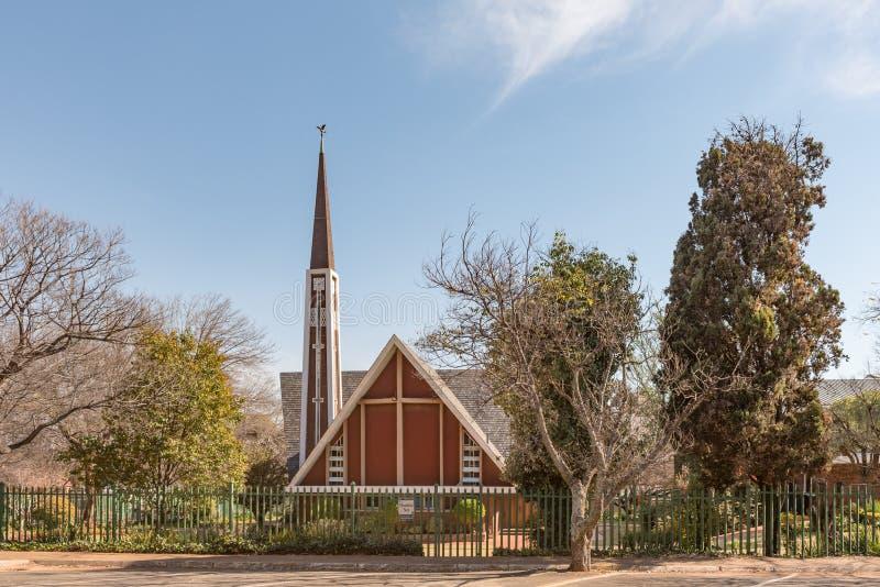 荷兰语在百人队队长的被改革的教会Lyttelton东部 免版税库存照片