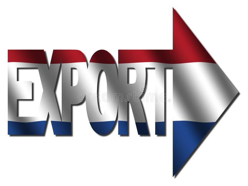 荷兰语导出文本 向量例证