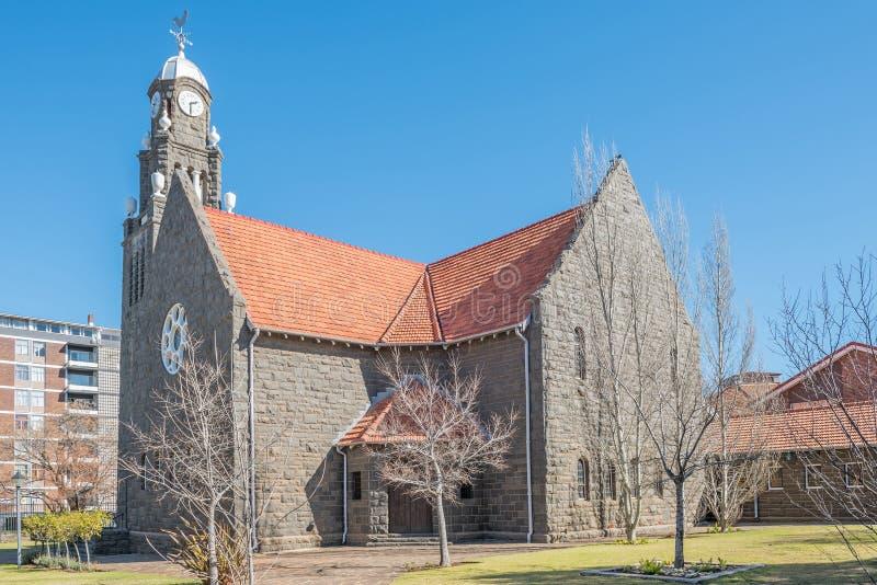 荷兰语改革了教会,布隆方丹北部叫的Klipkerk 库存照片