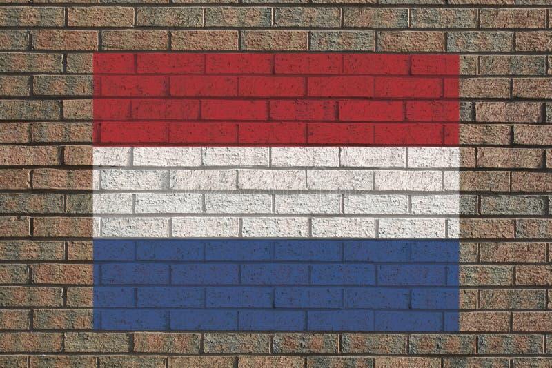 荷兰语标志墙壁 皇族释放例证