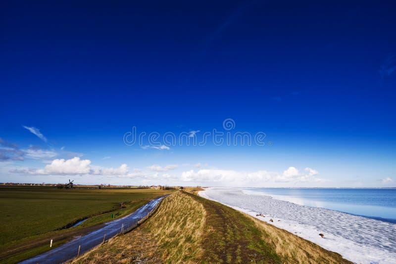 荷兰语横向冬天 免版税库存照片