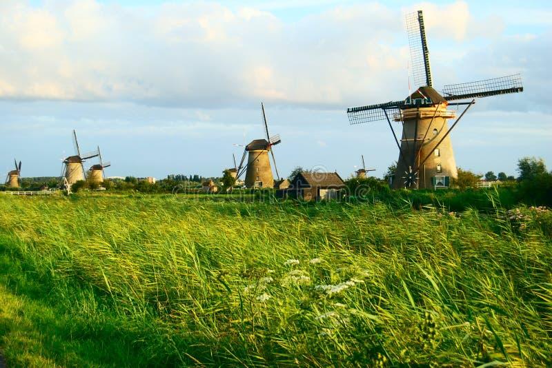 荷兰语横向磨房 免版税库存图片